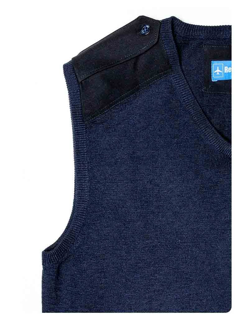 Pull-over laine léger col V manches longues