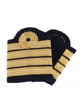 Coulants d'épaules pilote Commandant de Bord avec boucle de Nelson