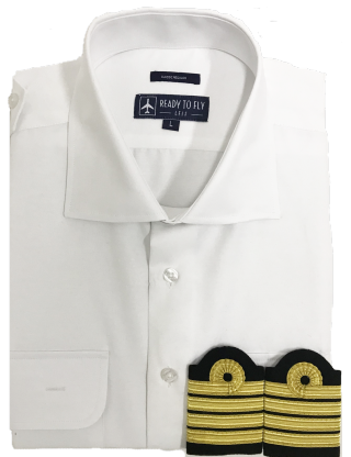 "Chemise pilote ""White Collar"" + Galons"