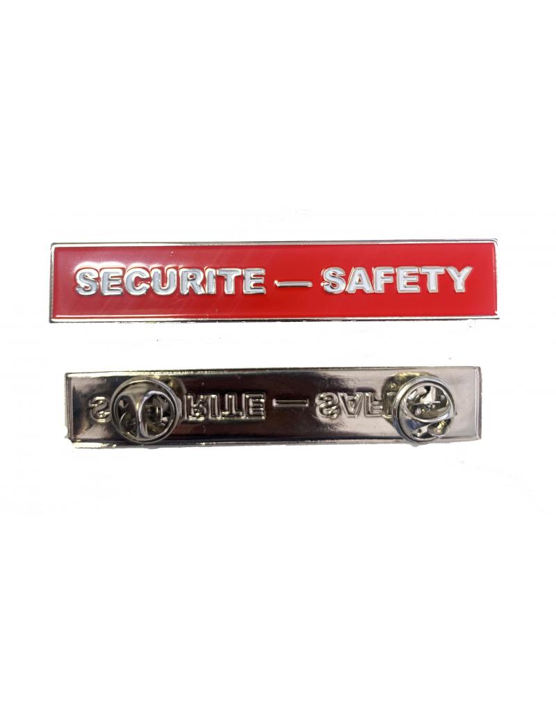 Plaquette Sécurité - Safety  pin's