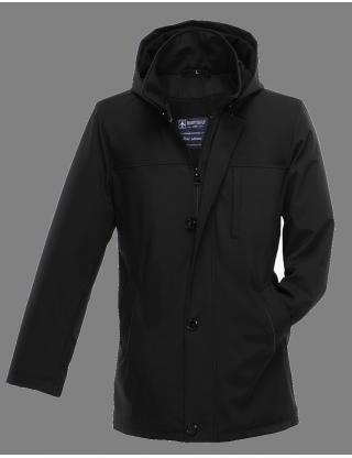 Manteau trois-quarts avec capuche amovible